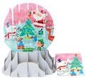 UP WITH PAPER スノーグローブカードL 立体仕様 クリスマス <サンタ×スノーマン>