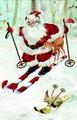 ROGER LA BORDE クリスマス スモールカード <サンタ×スキー>