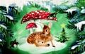 ROGER LA BORDE クリスマス スモールカード <バンビ×きのこ>