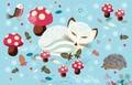 ROGER LA BORDE クリスマス スモールカード <動物×きのこ>