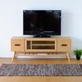 テレビボード 幅120cm (ナチュラル)【NO-07】