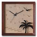 人気のハワイアンクロック/Palm Clock/220*220
