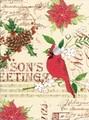 THE GIFT WRAP COMPANY ジャンボラッピングペーパー クリスマス <鳥> 包装紙