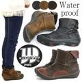 ショートブーツ レディース ウィルソンリー 靴 バイカラー フラット 生活防水