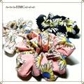 ○マーガレット 花柄シュシュ 3カラー○