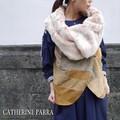 CATHERINE PARRA Spain キャサリンパーラー ヴィンテージレザーラビットファーベスト ベージュ