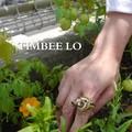 TIMBEE LO Hong Kong ティンバーロー ブタに真珠リング ゴールド