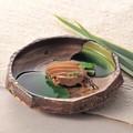 【大地の宴】緑釉流 盛鉢