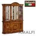 ★決算特価★【再入荷】イタリア 鏡面家具|AMALFI グランデ カップボード 飾り棚 大理石 WALNUT