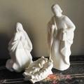 ポルトガル製 クリスマス ベレン人形 3体セット ホワイト キリスト生誕 置物 テラコッタ