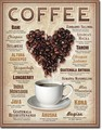ブリキ看板 Heart Coffee #58335