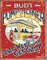 ブリキ看板 BUD's Pump'n Diner #58282