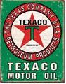 ブリキ看板 TEXACO Green #58522