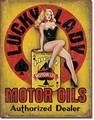 ブリキ看板 Lucky Lady Motor Oil #58525