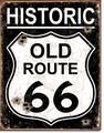 ブリキ看板 HISTORIC R66 OLD #58489