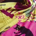 【3色展開】 猫のいる風景 ショール 《ファッションアイテム》