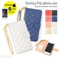 【赤字覚悟!!大放出SALE】◆[iPhone6]キルティングフリップスマホケース/携帯/雑貨◆419471