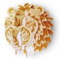 パズル感覚の木製組立てキット3D立体パズル「パズル名人/フェイス」ライオン