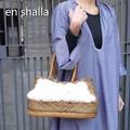 En Shalla(エンシャーラ) ファー×レザーバッグ ゴールド
