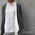 CP SHADES ベロアピンタックシャツ ホワイト