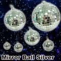 【おもしろ雑貨】ミラーボール シルバー インテリア パーティー おしゃれ クラブ ダンス