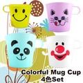 【アメ雑 食器】マグカップ 4色アソートセット 4種 ネコ パンダ スマイル ピエロ 雑貨 かわいい