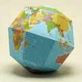 1枚の紙から生まれた組み立て式の地球儀【geografia】組立式地球儀 ベーシック
