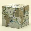 1枚の紙から生まれた組み立て式の地球儀【geografia】回転式地球儀 TWISTABLE AIR&OCEAN