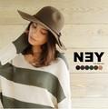 【SALE】◆[ウール100%]ツバ広フェルトハット/帽子/雑貨/小物/女優帽◆419723