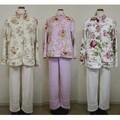 【特価】マイクロファイバーパジャマ<ローズ 薔薇 ファッション>
