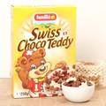 スイス チョコテディ(シリアル)【ココア味とホワイトチョコ・コーティングの可愛いクマの形】