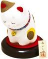 龍虎堂(リュウコドウ)おこしやす おじぎ猫(おすまし猫) [日本製]