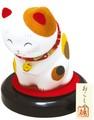 龍虎堂(リュウコドウ)おこしやす おじぎ猫(にっこり猫) [日本製]