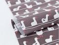 【生地】【布】【コットン】ダック(ブラウン) デザインファブリック★50cm単位でカット販売