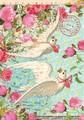 ROGER LA BORDEグリーティングカード <フラワー×鳩>