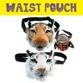 タイガーフェイスウエストポーチ * トラの顔型の小さめバッグです◎