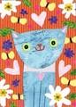 MADISON PARK GREETINGS バレンタイングリーティングカード <ハート×猫>