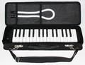 鍵盤ハーモニカ 32鍵 ピアニカ(卓奏用パイプ・立奏用唄口付き) ブラック [海外発送相談可]