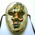 【イタリア製】マスケラ《ベネチアンカーニバルマスク》フルフェイス【ARLECCHINO】アルレッキーノ 道化師