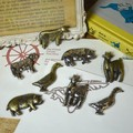 4型2色展開 愛らしい動物達のピューターマグネット