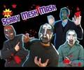 【おもしろ コスプレ】SCARY MESH MASK マスク 変装 仮装 ホラー ゾンビ スカル