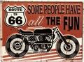 """アンティークエンボスプレート[レクト""""Route 66 Motorbike""""]<アメ雑>"""