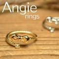 NEW【Angie】ピンキー/ ファランジ リング。リボン&光石!キュート&エレガント***