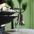 【インテリア・花器/ベース】シルバーメッキと電球の形がユニーク! バルブ Glass Vase