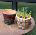 【ガーデン用品・ポット】カラフルで楽しいポット♪ モザイク Pot ベリークラック +プランター