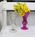 【インテリア・花器/ベース】どんなお花や空間にも似あうベース♪ Etching glass ビューグル