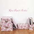 【ローズ(薔薇)】ペーパーボックス フレンチローズ ◆収納