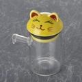 黄猫 クリアポット大