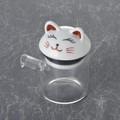 白猫 クリアポット小