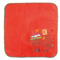 【ECOUTE!】 E.刺繍タオルハンカチ レッド